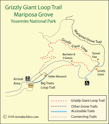 Mariposa Grove - Sierra Day Hikes on map of yosemite's faults, map of idyllwild area, map of west hills area, map of el cajon area, map of wrightwood area, yosemite skiing area, map of atlanta area, map of cypress area, map of canyonlands area, map of beaumont area, map of kanab, map of san pedro area, map of thousand oaks area, map of jackson area, map of glacier national park area, map of pomona area, map of golden gate bridge area, map & directions yosemite, map of ontario area, map of monticello area,